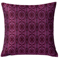 Pinkadelic 18 X 5 inch Pink and Purple with Black Throw Pillow, Varaluz Casa