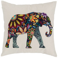 Elephant 18 X 0 inch Multicolor Throw Pillow Case, Varaluz Casa