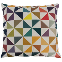 Colorful Triangles 18 X 0 inch Multicolor Throw Pillow Case, Varaluz Casa