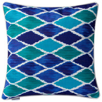 Blue Harlequin 18 X 0 inch Blue Throw Pillow Case, Varaluz Casa