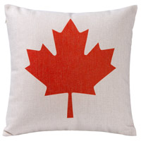 Canadian Flag 18 X 0 inch Red and Beige Throw Pillow Case, Varaluz Casa