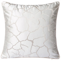 White Crackle 18 X 0 inch White Crackle Throw Pillow Case, Varaluz Casa