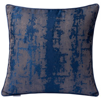 Modern Blue Imprint 18 X 0 inch Modern Blue Throw Pillow Case, Varaluz Casa