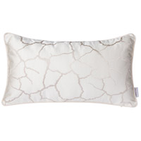 White Crackle 20 X 0 inch White Crackle Lumbar Pillow Case, Varaluz Casa