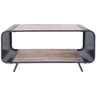 Atomic 43 X 24 inch Weathered Steel and Coastal Light Coffee Table TV Stand, Varaluz Casa