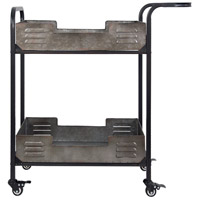 Elixir Black Weathered and Galvanized Bar Cart, Varaluz Casa