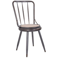 Varaluz 4FSE0101 Dawson Weathered Steel and Coastal Light Convertible Dining Chair, Varaluz Casa