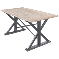 Varaluz 4FTA0101 Dawson 63 X 32 inch Weathered Steel and Coastal Wash Dining Table, Varaluz Casa