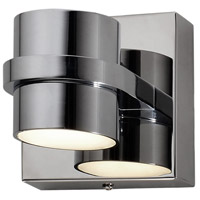 Varaluz 610800 Twocan LED 4 inch Polished Chrome Bath Vanity Wall Light