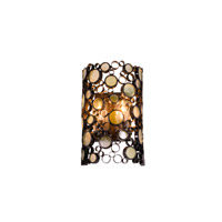 Varaluz Fascination 2 Light Outdoor Wall in Glossy Bronze 703KM02