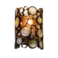 Varaluz Fascination 1 Light Outdoor Wall in Glossy Bronze 703KS01
