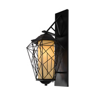 Varaluz Wright Stuff 1 Light Outdoor Wall in Black 737KM01BL