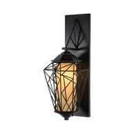 Varaluz Wright Stuff 1 Light Outdoor Wall in Black 737KS01BL