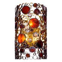 Varaluz Fascination 3 Light Outdoor Wall in Glossy Bronze 765KL03
