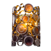 Varaluz Fascination 1 Light Outdoor Wall in Glossy Bronze 765KS01
