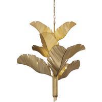 Varaluz 901C09GO Banana Leaf 9 Light 35 inch Gold Chandelier Ceiling Light