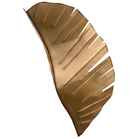Banana Leaf 2 Light 12 inch Gold with Dark Edging Wall Sconce Wall Light