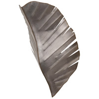 Banana Leaf 2 Light 12 inch Silver with Dark Edging Wall Sconce Wall Light