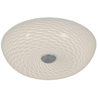 Swirled LED 12 inch Chrome Flush Mount Ceiling Light