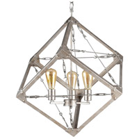 Askew 3 Light 28 inch Silver Age Pendant Ceiling Light