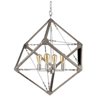 Askew 4 Light 34 inch Silver Age Pendant Ceiling Light