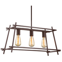 Varaluz AC1555 Hashtag 3 Light 24 inch New Bronze Linear Pendant Ceiling Light
