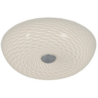 Swirled 2 Light 12 inch Chrome Flush Mount Ceiling Light