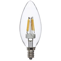 Signature LED Torpedo E12 Candelabra 4 watt 3000K Bulb, Pack of 8