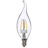 Signature LED Flame E12 Candelabra 4 watt 3000K Bulb, Pack of 8