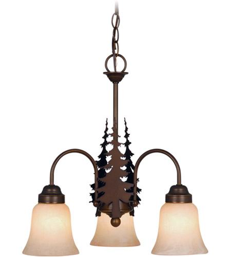 Vaxcel Burnished Bronze Chandeliers