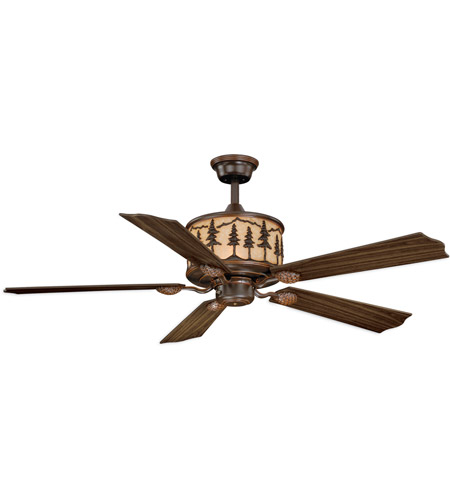 Vaxcel F0011 Yosemite 56 inch Burnished Bronze with Rosewood/Dark Walnut Blades Ceiling Fan photo thumbnail