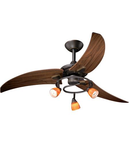 48 inch fan steel vaxcel fn48121or picard 48 inch vintage bronze with walnut blades ceiling fan photo