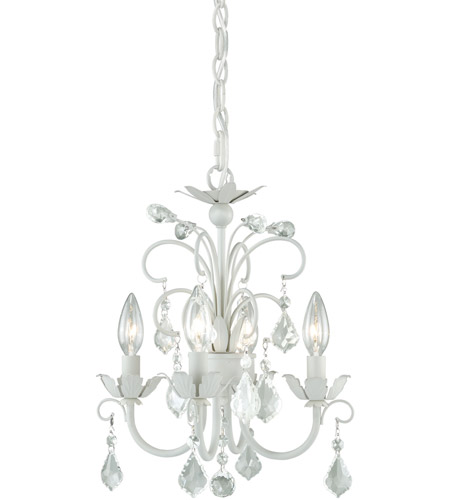 Satin White Mini Chandeliers