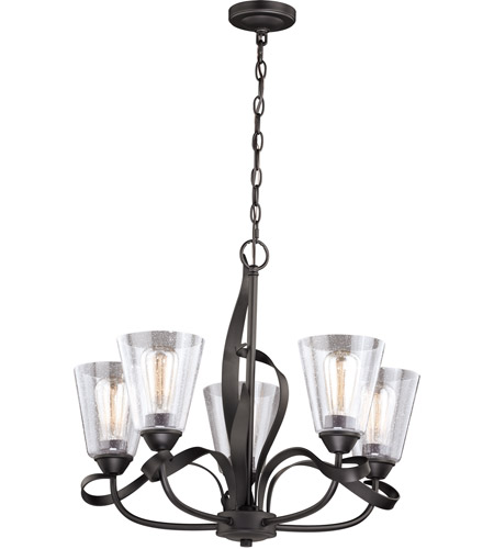 Vaxcel H0185 Cinta 5 Light 25 inch Oil Rubbed Bronze Chandelier Ceiling Light photo