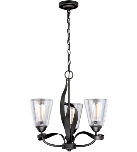 Vaxcel H0186 Cinta 3 Light 20 inch Oil Rubbed Bronze Mini Chandelier Ceiling Light photo thumbnail