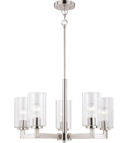 Vaxcel H0191 Addison 5 Light 24 inch Satin Nickel Chandelier Ceiling Light photo