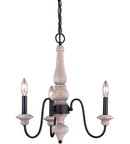 Vaxcel H0235 Georgetown 3 Light 19 Inch Vintage Ash With Oil Burnished Bronze Mini Chandelier Ceiling