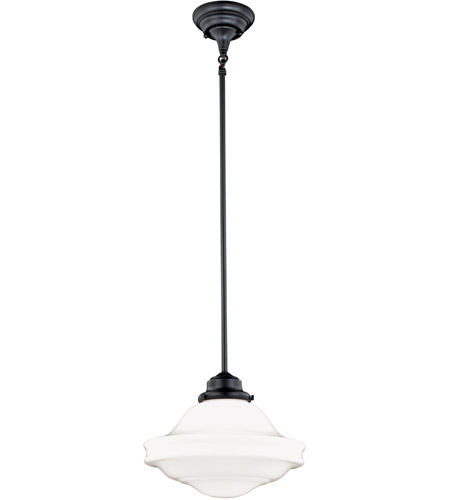 Vaxcel P0243 Huntley 1 Light 12 Inch Oil Rubbed Bronze Pendant Ceiling