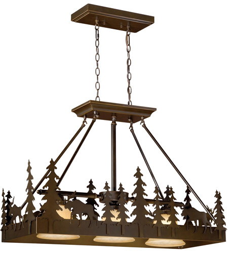 Vaxcel Steel Yellowstone Chandeliers