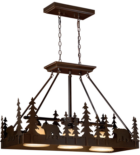 Burnished Bronze Bozeman Chandeliers