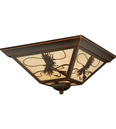 Vaxcel T0115 Mayfly 3 Light 14 inch Burnished Bronze Outdoor Ceiling