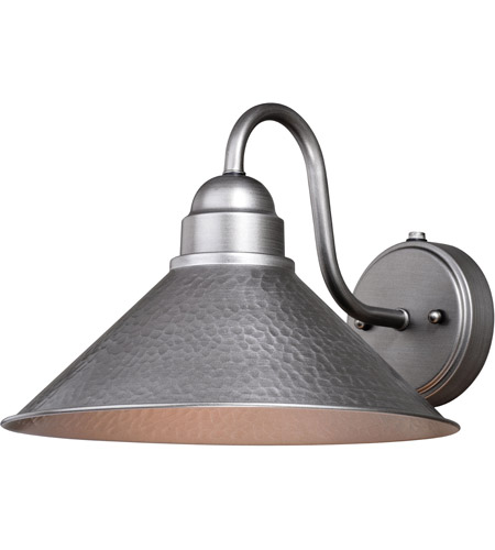 Light 9 Inch Brushed Pewter Outdoor Wall