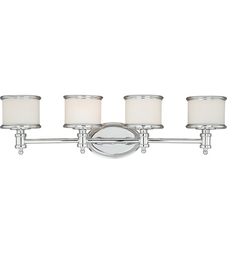 Vaxcel W0149 Carlisle 4 Light 30 inch Chrome Vanity Light Wall Light photo thumbnail