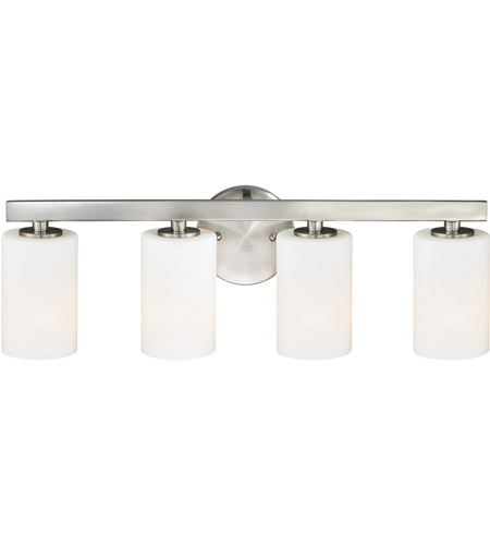 Vaxcel W0229 Glendale 4 Light 24 Inch Satin Nickel Bathroom Light