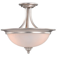 Avalon 2 Light 15 inch Brushed Nickel Semi-Flush Mount Ceiling Light