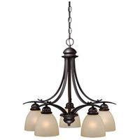 Avalon 5 Light 25 inch Oil Burnished Bronze Chandelier Ceiling Light