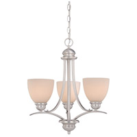Avalon 3 Light 20 inch Brushed Nickel Mini Chandelier Ceiling Light
