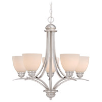 Avalon 5 Light 25 inch Brushed Nickel Chandelier Ceiling Light