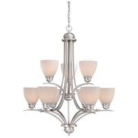 Avalon 9 Light 30 inch Brushed Nickel Chandelier Ceiling Light