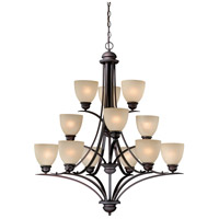 Avalon 12 Light 36 inch Oil Burnished Bronze Chandelier Ceiling Light